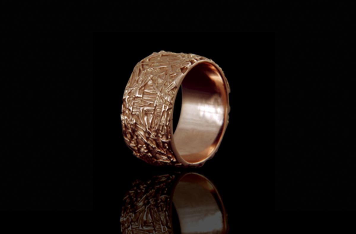 טבעת נישואים בזהב אדום 14K